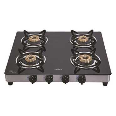 Elica 594 CT Vetro 4 Burner Gas Cooktop - Black