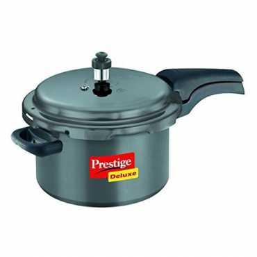 Prestige Deluxe Plus Hard Anodized 3 L Pressure Cooker - Black