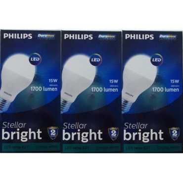 Philips Stellar Bright E27 15W 1700 Lumens LED Bulb Crystal White Pack of 3