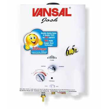 Vansal Josh 6.5Ltrs Gas Water Geyser - White