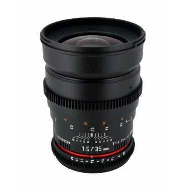 Rokinon CV35-C 35mm T1.5 Aspherical Wide Angle Cine Lens (For Canon,Nikon) - Black