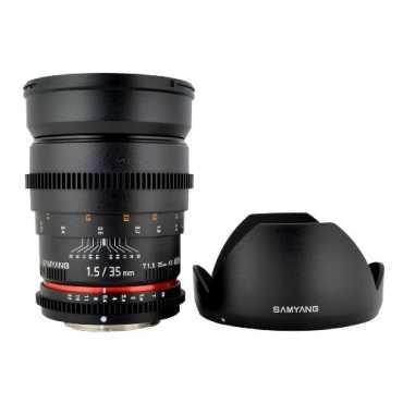Samyang SYCV35-N 35mm T1.5 Aspherical Wide Angle Cine Lens (For Nikon) - Black