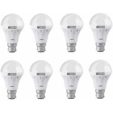 Oreva 10W ECO LED Bulb (Cool Day Light , pack of 8) - White