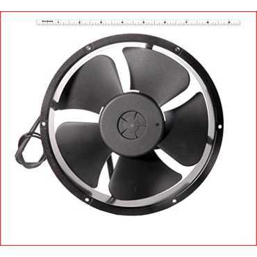 Maa Ku AC Round Medium Kitchen Exhaust Fan (8.7 Inches) - Black