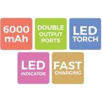 Zebronics ZEB-MC6000 6000mAh Power Bank