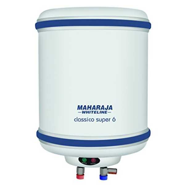 Maharaja Whiteline Classico Super 6 Litres Storage Water Geyser - White