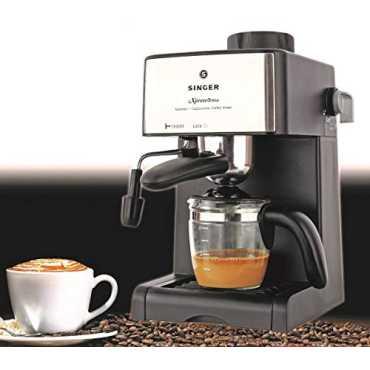 Singer Xpress Brew 800W 4 Cups Coffee Maker - Black & Silver