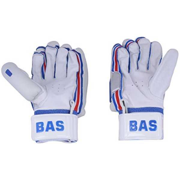 BAS Bend Finger Players RH Batting Gloves (Men) - White