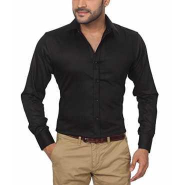 GlobalRang Men s Cotton Black Formal Shirt Size-S