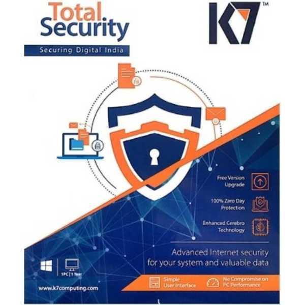K7 Total Security 2017 6 PC 1 Year Anitvirus