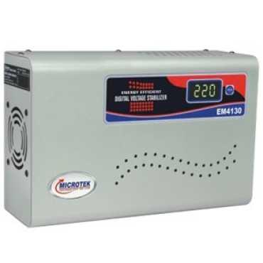 Microtek EM4130 Plus Digital Voltage Stabilizer - Grey