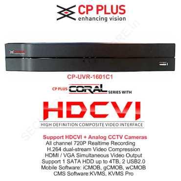 CP PLUS CP-UVR-1601C1 16-Channel HD Dvr