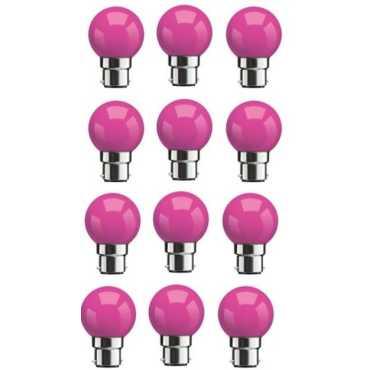 Syska 0 5W Standard B22 45L LED Bulb Pink Pack of 12