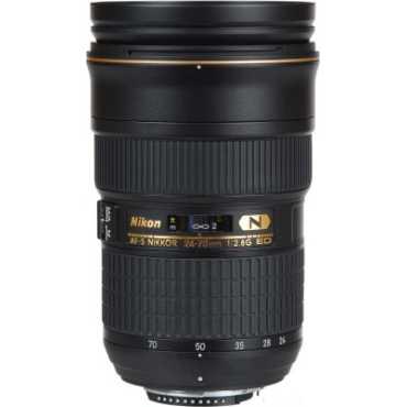 Nikon AF-S NIKKOR 24-70mm f/2.8G ED Lens - Black