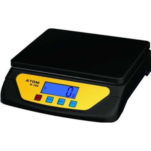 Atom A-124 Digital Weighing Scale - Black