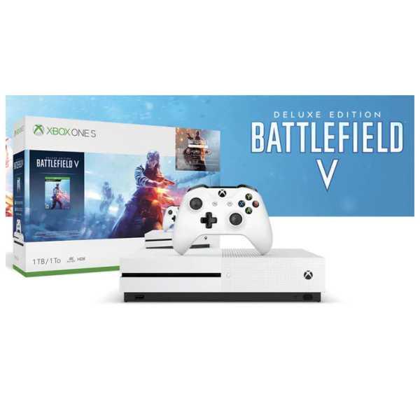 Microsoft Xbox One S 1TB Console (with Battlefield V Bundle, Steep & Crew)