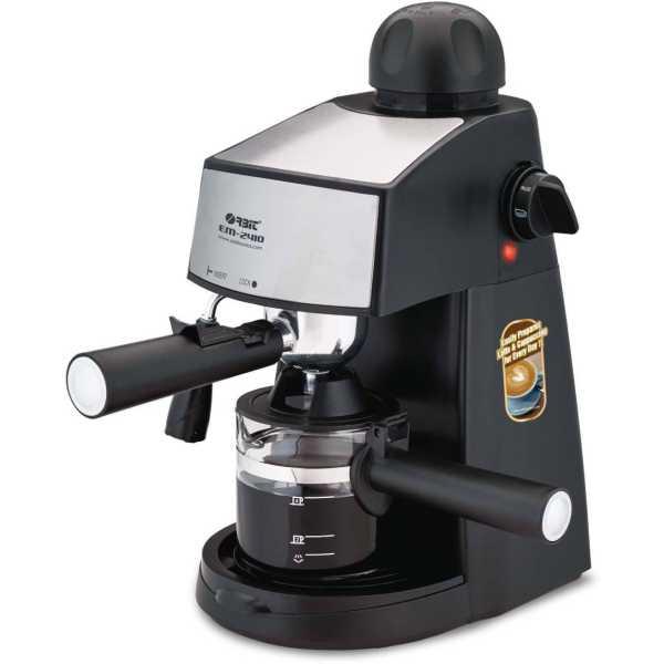 Orbit EM-2410 4 Cups Coffee Maker - Black   Brown