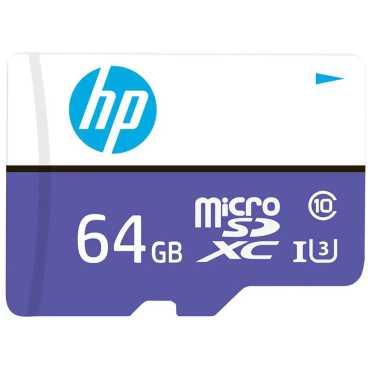HP MX330 U3 64GB MicroSDXC Class 10 100MB s Memory Card with Adapter