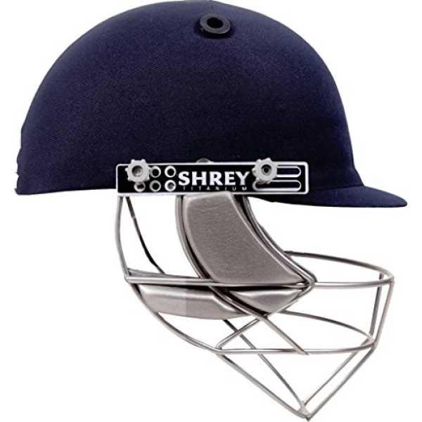 Shrey Master Class Titanium Visor Cricket Helmet (Medium) - Blue
