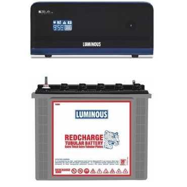 Luminous Zelio1100 900VA Inverter (With RC 18000 Tubular Battery) - Grey