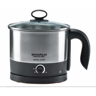 Maharaja Whiteline Easy Cook 1.2 Litre Electric Kettle - Black | Steel