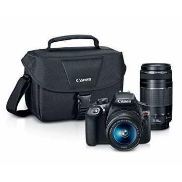 Canon EOS Rebel T6 DSLR Camera (with EF-S 18-55mm & EF 75-300mm Zoom Lenses) - Black
