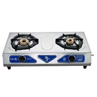 Pigeon Stainless Steel Duo Gas Cooktop (2 Burner) - Steel