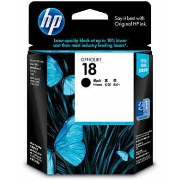 HP 18 Black Ink Cartridge - Black