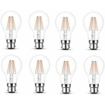 Wipro Garnet 8W Standard B22 806L LED Bulb (Yellow,Pack of 8) - Yellow