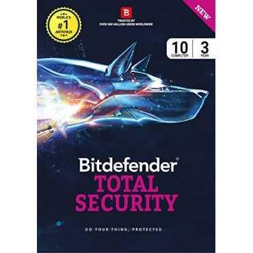 Bitdefender Total Security 2017 10 PC 3 year Antivirus (Activation Key)