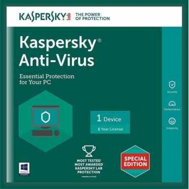 Kaspersky Antivirus 2017 1 PC 1 Year Antivirus