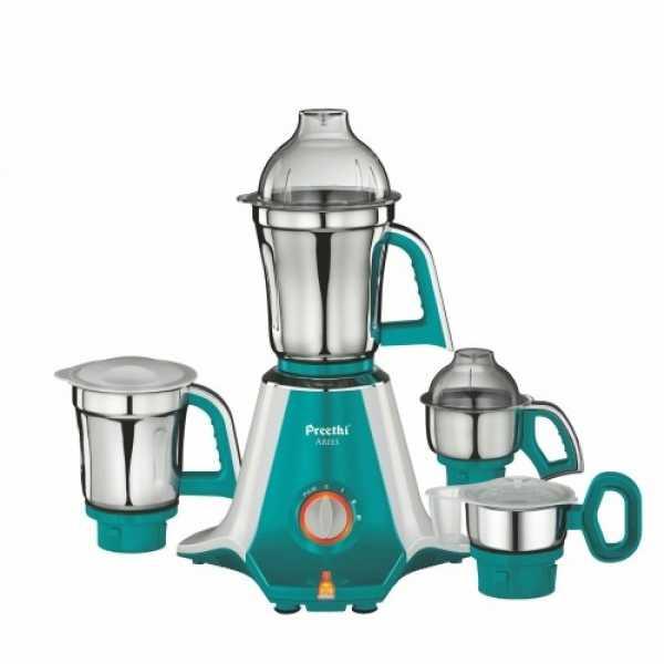 Preethi Aries 750W Mixer Grinder (4 Jars) - Green