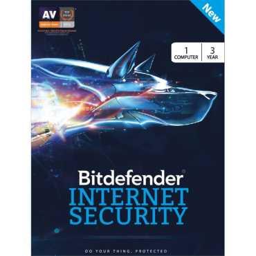 Bitdefender Internet Security 2017 1 PC 3 Year Antivirus