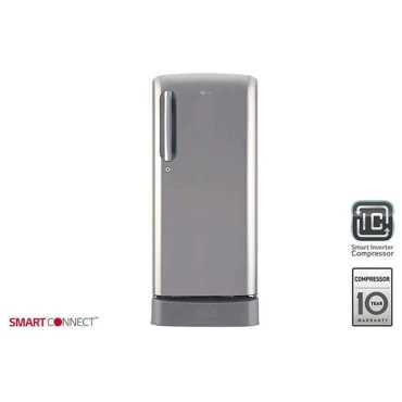 LG GL-D201APZY 190 L 5 Star Inverter Direct Cool Single Door Refrigerator - Shiny Steel