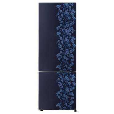 Haier HRB-3404CBD-R 320 L 3 Star Frost Free Double Door Refrigerator (Daisy) - Blue