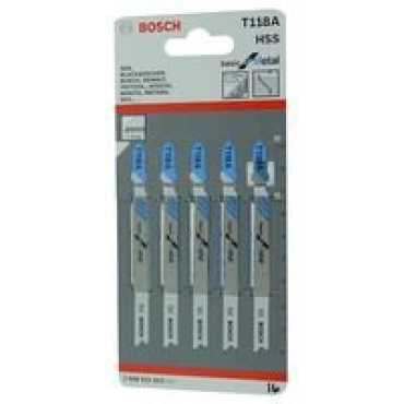 Bosch T118A Jigsaw Blade Set (5 Pc) - Grey