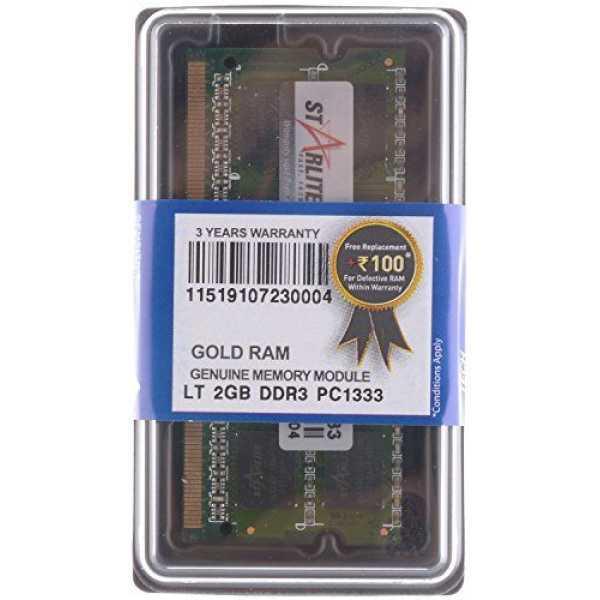 STARLITE LT PC1333-Gold 2GB DDR3 Laptop Ram