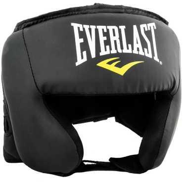 Everlast Headgear Head Guard (Free Size) - Black