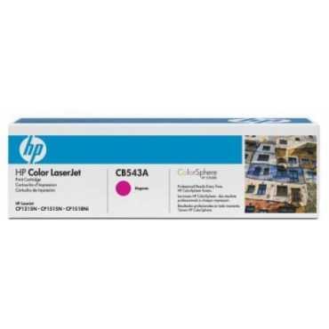 HP CB543A LaserJet Magenta Print Toner Cartridge - Pink