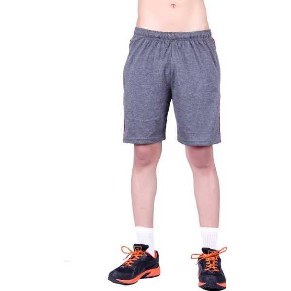 Men's Cotton Shorts (MNDG1_$P, Dark Grey, S)
