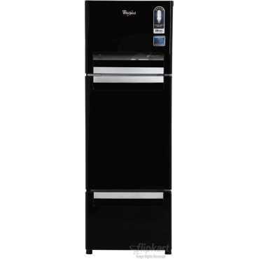 Whirlpool FP 263D Protton Royal 240 Litres Triple Door Refrigerator (Mirror Black/White) - Black
