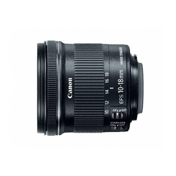 Canon EF-S10-18mm f/4.5-5.6 IS STM EF Zoom  Lens - Black