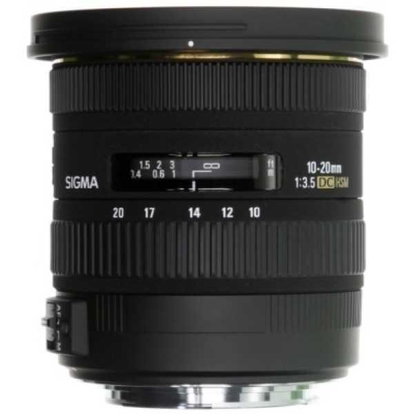 Sigma 10-20mm f/3.5 EX DC HSM Lens (For Sigma DSLR) - Black