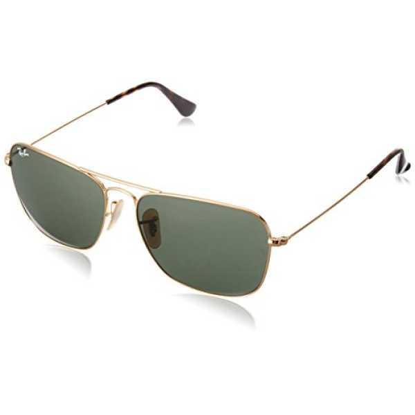 Ray-Ban UV Protected Aviator Men's Sunglasses (0RB313618158|58|Green)