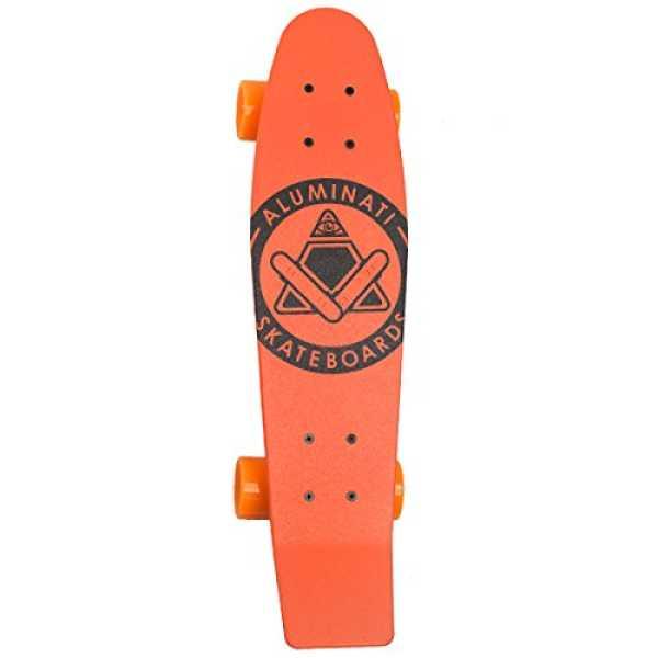 Aluminati Basix Skateboard - Orange | Red