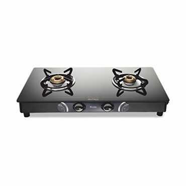 Preethi Gleam Glass GTS 102 Gas Cooktop (2 Burner) - Black