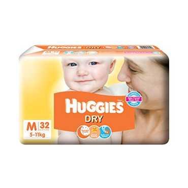 Huggies New Dry Diapers Medium (32 Pieces) - White