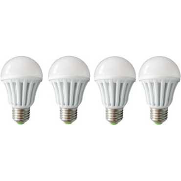 IPP 3W E27 Plastic Body White LED Bulb Pack of 4