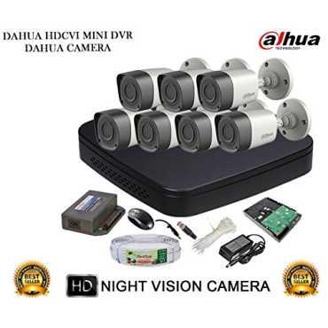 Dahua DH-HCVR4108C-S2 8CH Dvr 7 DH-HAC-HFW1000RP Bullet Cameras With Accessories 2TB HDD