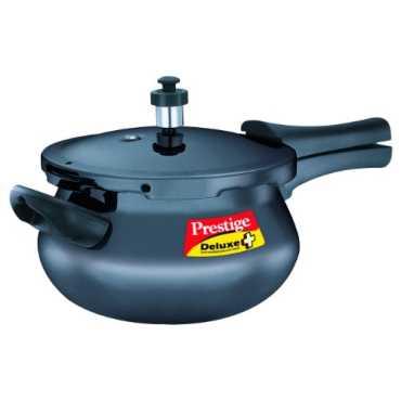 Prestige Deluxe Plus Mini Handi Hard Anodized 3.3 L Pressure Cooker (Induction Bottom, Outer Lid) - Black